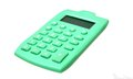 Green calculator Royalty Free Stock Image