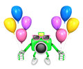 Green camera character to the event activity create d camera r robot series Stock Photography