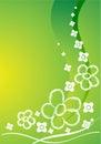 Green Card mit Blumen Lizenzfreies Stockfoto