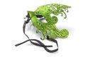 Green Carnival Mask Royalty Free Stock Photo