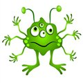 Green Cartoon Alien Clipart