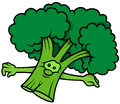 Green Cartoon Broccoli Royalty Free Stock Photo