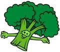 Green Cartoon Broccoli Royalty Free Stock Photo