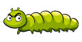 Green caterpillar with angry face Royalty Free Stock Photo