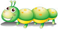 A green caterpillar toy illustration of on white background Royalty Free Stock Photography