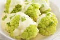 Green Cauliflower Cheese Royalty Free Stock Photos