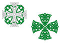 Green celtic crosses Stock Photos