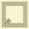 Green celtic shamrock frame