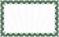 Green certificate template or diploma isolated very complex border Royalty Free Stock Photography