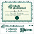 Green certificate. Template. Horizontal. Royalty Free Stock Photo