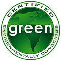 Green Certified Seal PATH Stock Photo