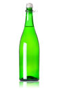 Green  Champagne bottle Royalty Free Stock Photos