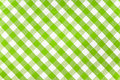 Green checked fabric tablecloth Royalty Free Stock Images