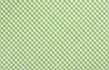 Green checkered fabric closeup tablecloth texture Stock Image