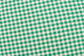 Green checkered fabric Royalty Free Stock Photo