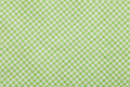 Green Checkered tablecloth Background Royalty Free Stock Photography