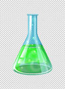 Green chemical in beaker