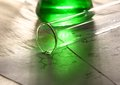 Green chemistry with reaction formula Stock Photos