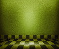 Green Chessboard Mosaic Room Background Royalty Free Stock Images