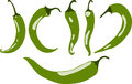 Green chili pepper, illustration, Royalty Free Stock Photo