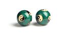 Green chinese balls for relaxation on the white background Royalty Free Stock Photos