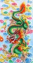Green chinese dragon Royalty Free Stock Photo