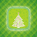 Green christmas card, vector Royalty Free Stock Images