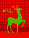 Green Christmas deer Royalty Free Stock Photography