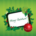 Green Christmas frame Royalty Free Stock Photo