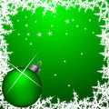 Green christmas frame Royalty Free Stock Photos