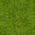 Green Christmas Scrolls background Stock Photos