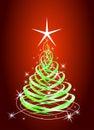 Green christmas tree Stock Photos