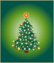 Green christmas tree Royalty Free Stock Images