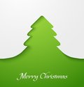 Green christmas tree applique Royalty Free Stock Photography