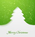 Green christmas tree applique Royalty Free Stock Images