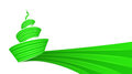 Green christmas tree vortex design Royalty Free Stock Photo