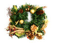 Green christmas wreath Royalty Free Stock Photography