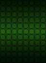 Green circle shape pattern dark background vector baroque illustration Stock Photography