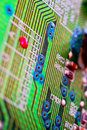 Green circuit board Royalty Free Stock Photo