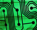Green circuit board Stock Image