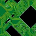 Green circuit board illustration. Stock Photos