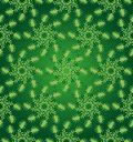 Green circular floral seamless pattern vintage Royalty Free Stock Photography