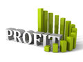 Green circular progress bar Profit chart diagram. business succe Royalty Free Stock Photo