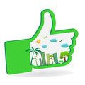 Green city like hand with Royalty Free Stock Photo