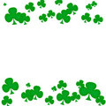 Green Clover Border Royalty Free Stock Images