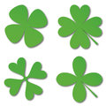 Green cloverleafs Stock Photography