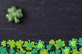 Green Clovers on Chalkboard Royalty Free Stock Photo