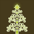 Green coil Christmas tree Royalty Free Stock Photo