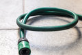 Green coiled rubber Royalty Free Stock Photo