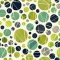 Green color circle seamless pattern Royalty Free Stock Photo